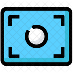 Camera Focus Colored Outline Icon