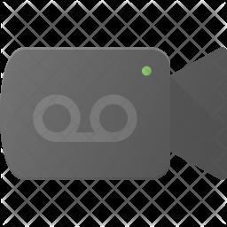 Camera recording Flat Icon
