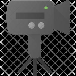 Camera stand Flat Icon