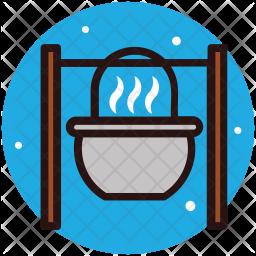 Campfire Grilling Icon