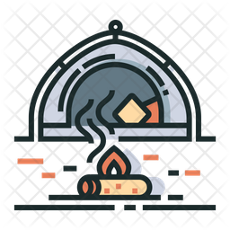 Camping Colored Outline Icon