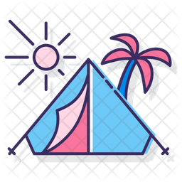 Camping Beach Icon Of Colored Outline Style Available In Svg Png Eps Ai Icon Fonts