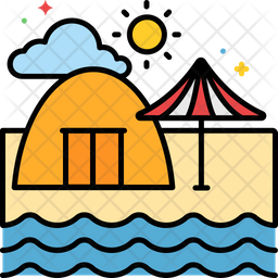 Camping Beach Icon