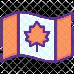 Canada Colored Outline Icon