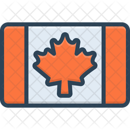 Canadian Colored Outline Icon