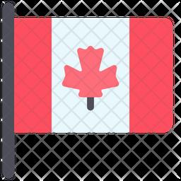 Canadian Flag Flat Icon
