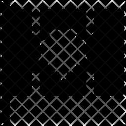 Canadian Flag Glyph Icon