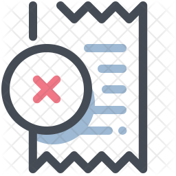 Cancel Bill Icon Of Colored Outline Style Available In Svg Png Eps Ai Icon Fonts