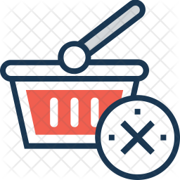Cancel Shopping Colored Outline Icon