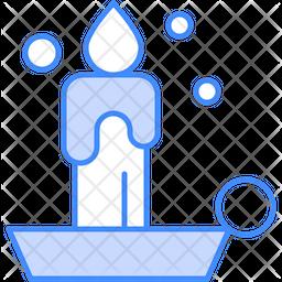 Candle Dualtone Icon