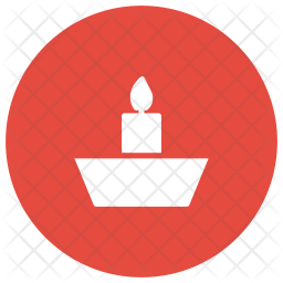 Candle Glyph Icon