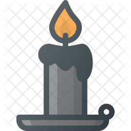 Candle stand Colored Outline Icon