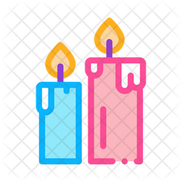 Candles Colored Outline Icon