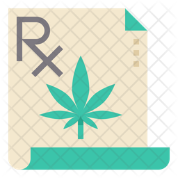 Cannabis Prescription Icon