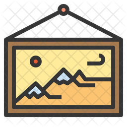 Canvas Colored Outline Icon
