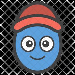 Cap Egg Smiley Icon