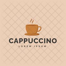 Cappuccino Colored Outline  Logo Icon