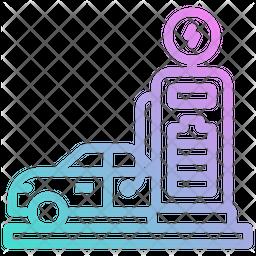 Car Charging Gradient Icon