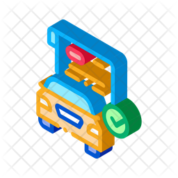 Car Documents Checked Isometric Icon