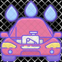 Car Engine Wash Icon