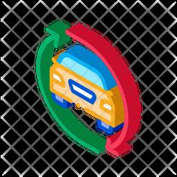 Car Exchange Isometric Icon
