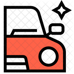 Car Exterior Detailing Colored Outline Icon