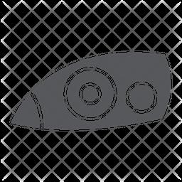 Car headlight Glyph Icon