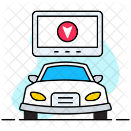 Car Navigation Colored Outline Icon