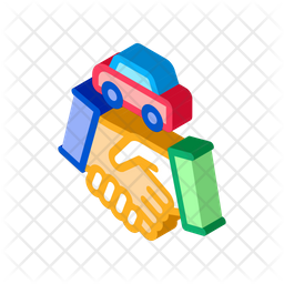 Car Purchase Deal Isometric Icon
