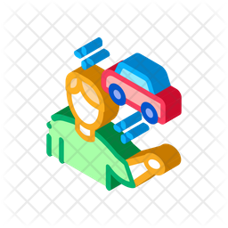 Car Seller Isometric Icon