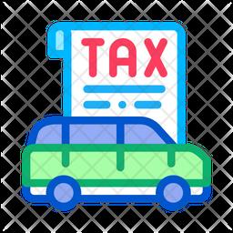 Car Tax Paper Icon