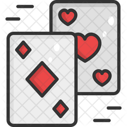 Card Game Colored Outline Icon