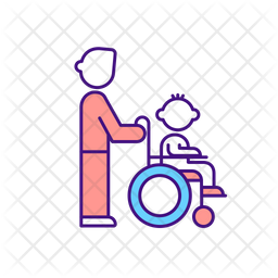 Caregiver Support For Disabled Child Icon