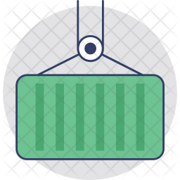 Cargo Container Colored Outline Icon