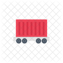 Cargo Container Flat Icon