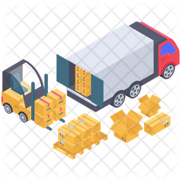 Cargo Container Loading Icon