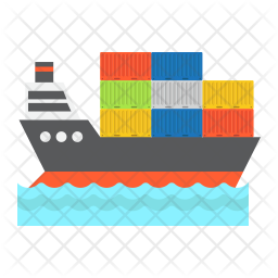 Cargo ship Icon of Flat style - Available in SVG, PNG, EPS ...