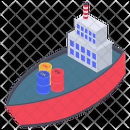 Cargo Ship Transport Icon