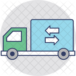 Cargo Truck Colored Outline Icon