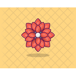 Carnation Colored Outline Icon