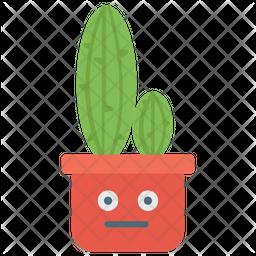 Cartoon Cactus Flat Icon
