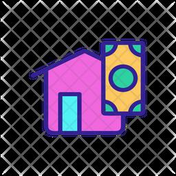 Cash Home Icon