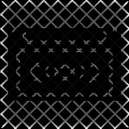 Casset Glyph Icon