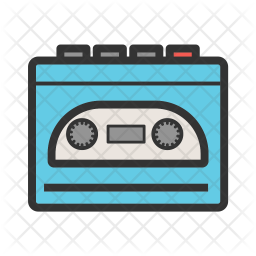 Cassette Player Icon Of Colored Outline Style Available In Svg Png Eps Ai Icon Fonts