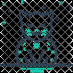 Cat Line Icon