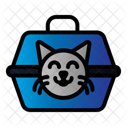 Cat Carrier Colored Outline Icon