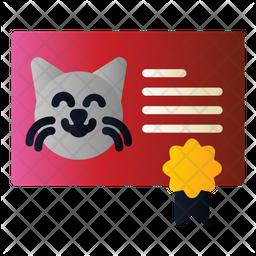 Cat Certificate Icon