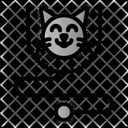 Cat Checkup Colored Outline Icon