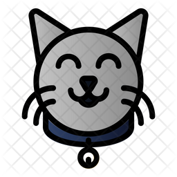 Cat Collar Colored Outline Icon