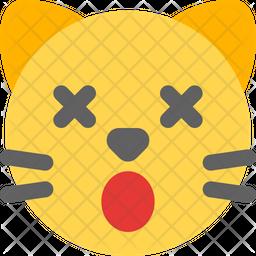 Cat Dizzy Flat  Emoji Icon